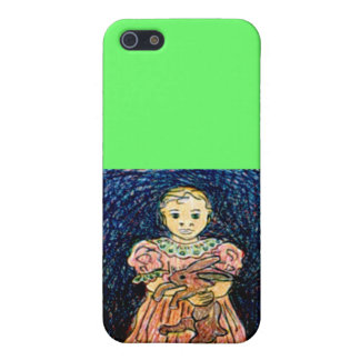 Child with Rabbit Case For iPhone SE/5/5s