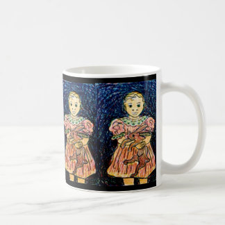 Child with Rabbit Coffee Mug
