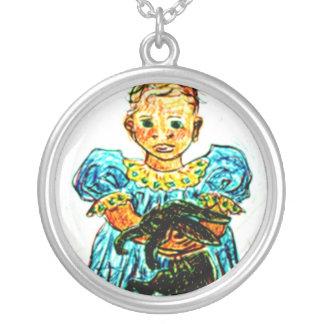 Child with Rabbit Custom Jewelry