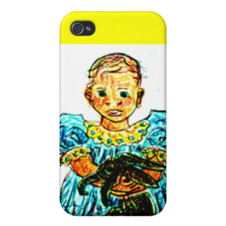 Child with Rabbit iPhone 4/4S Cases