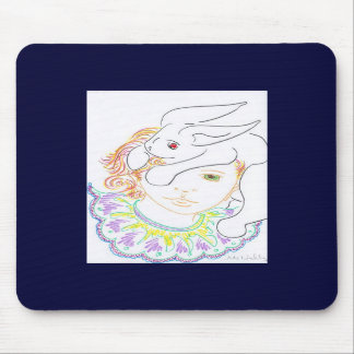 Child with Rabbit Mouse Pads