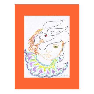 Child with Rabbit Postcard