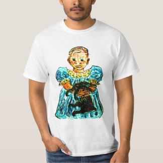 Child With Rabbit T-Shirt