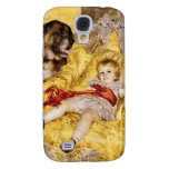 Child with Saint Bernard Vintage i Samsung Galaxy S4 Cases