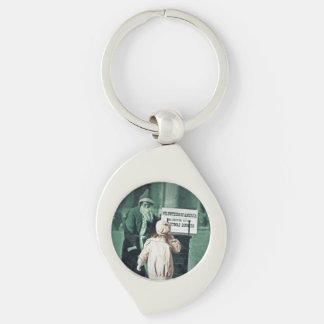 Child with Santa During Great Depression Keychain
