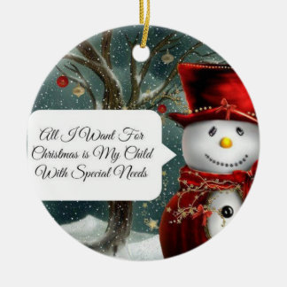 Child With Special Needs Christmas Ornament