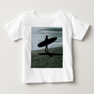Child with surfboard baby T-Shirt