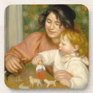 Child with Toys, Gabrielle and the Artist's son Coasters