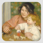 Child with Toys, Gabrielle and the Artist's son Sticker