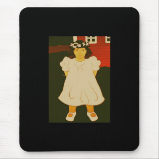 Child with Wreath Mouse Pad