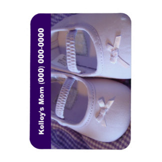 Childcare Babysitter Phone # magnets Baby Shoes