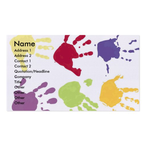 Childcare business cards business card templates bizcardstudio childcare business cards colourmoves