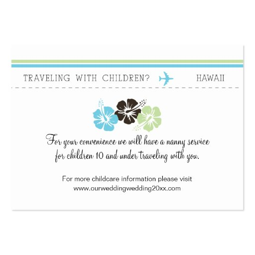 Childcare Card for Wedding Business Card Template
