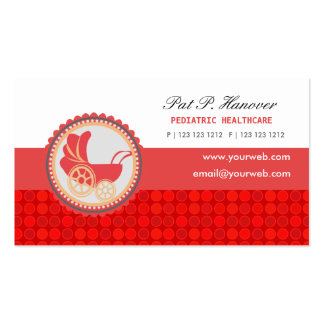 Childcare Cute Vintage Baby Carriage Custom Business Card