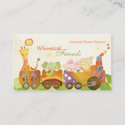 Daycare Childcare Business Card Zazzle