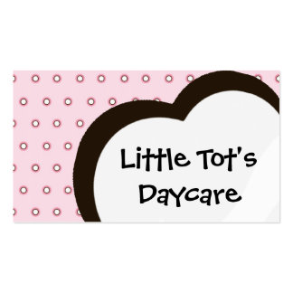 Childcare | Daycare | Preschool | Babysitting Svc. Business Card Templates