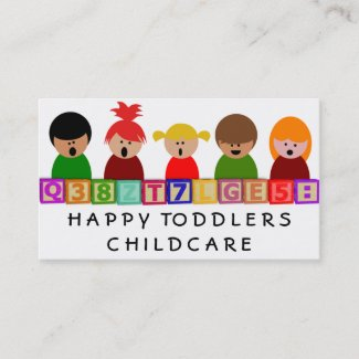Childcare, Kindergarten Business Card