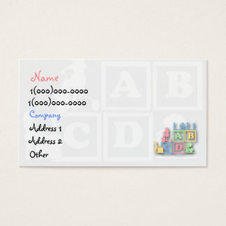 Childcare Preschool Business Card