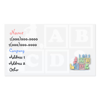 Childcare Preschool Business Card