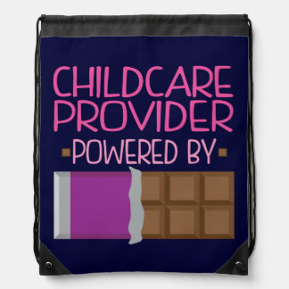 Childcare Provider Chocolate Gift for Woman Drawstring Bag