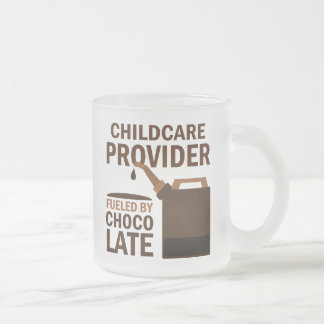 Childcare Provider Gift Chocolate Frosted Glass Coffee Mug