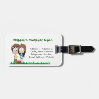 Childcare - Summer Camp - School Business Theme Bag Tag