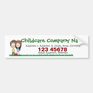 Childcare - Summer Camp - School Business Theme Car Bumper Sticker