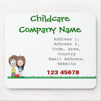 Childcare - Summer Camp - School Business Theme Mousepad