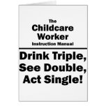 childcare worker greeting cards