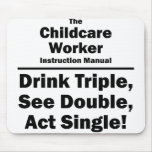 childcare worker mouse pad