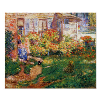 Childe Hassam - A fishing hut, Gloucester Poster