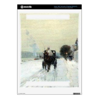 Childe Hassam - Along the Seine Winter Skin For Xbox 360 Console