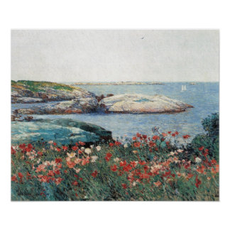 Childe Hassam - amapolas, islas de bajíos Póster