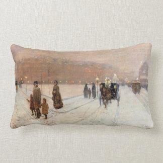 Childe Hassam - An urban fairy tale land Pillows