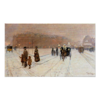 Childe Hassam - An urban fairy tale land Poster