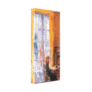 Childe Hassam - At the desk Canvas Print