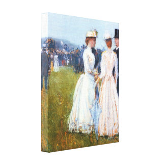 Childe Hassam - At the Grand Prix in Paris Stretched Canvas Print