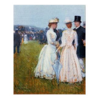 Childe Hassam - At the Grand Prix in Paris Poster