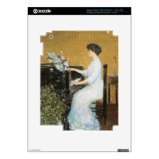 Childe Hassam - At the piano iPad 3 Decals