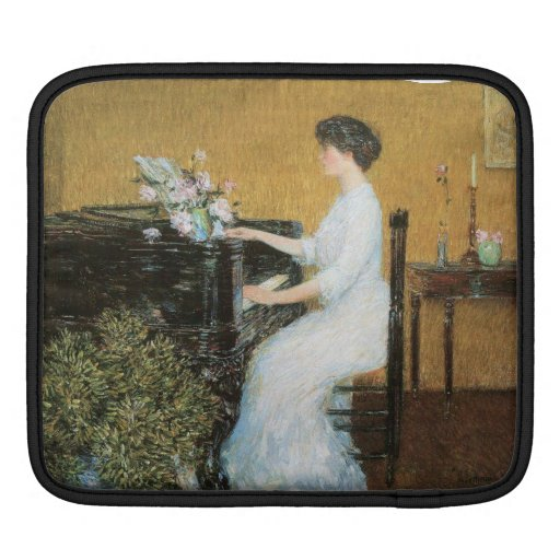 Childe Hassam - At the piano iPad Sleeve