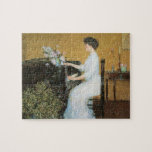 Childe Hassam - At the piano Jigsaw Puzzle