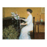 Childe Hassam - At the piano Postcards