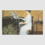 Childe Hassam - At the piano Stickers