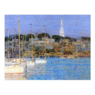 Childe Hassam - barcos Newport del gato Tarjetas Postales