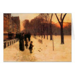 Childe Hassam - Boston in everyday twilight Stationery Note Card