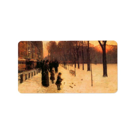 Childe Hassam - Boston in everyday twilight Label