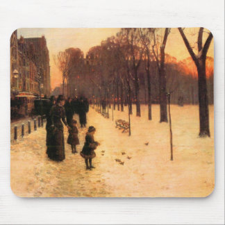 Childe Hassam - Boston in everyday twilight Mouse Pad