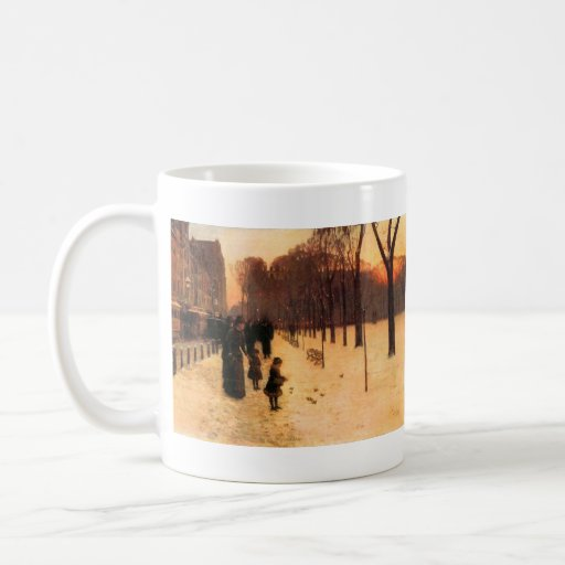 Childe Hassam - Boston in everyday twilight Classic White Coffee Mug