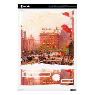 Childe Hassam - Broadway and Fifth Avenue Skins For The Xbox 360 S
