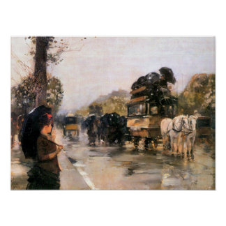 Childe Hassam - campeones Elysees París Poster